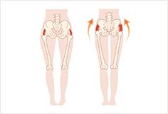 根本の原因である「骨盤の歪み」(姿勢不良)を改善できていないから。